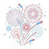 Vector holiday firework. Independence day of America. Holiday firework. Independence day of America Stock Photography