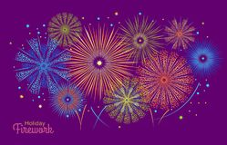 Vector holiday firework. Independence day of America Stock Photos