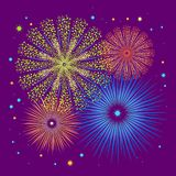 Vector holiday firework. Independence day of America Royalty Free Stock Images