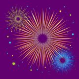 Vector holiday firework. Independence day of America Royalty Free Stock Image