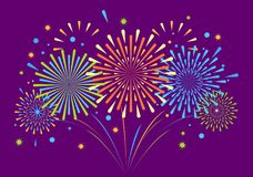 Vector holiday firework. Independence day of America Royalty Free Stock Photo