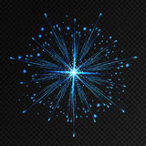 Vector holiday firework. Independence day. Vector blue holiday firework. Independence day Royalty Free Stock Images