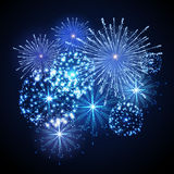 Vector holiday firework. Independence day. Vector blue holiday firework. Independence day Stock Image