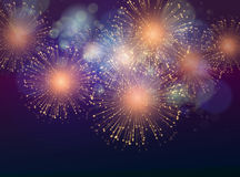 Vector Holiday Fireworks Background Stock Image