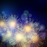 Vector Holiday Fireworks Background Royalty Free Stock Image