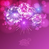 Vector holiday fireworks. Illustratation of holiday fireworks of independence day Royalty Free Stock Photo