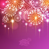 Vector holiday fireworks. Illustratation of holiday fireworks of independence day Stock Photos