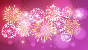 Vector holiday fireworks. Illustratation of holiday fireworks of independence day Royalty Free Stock Photos
