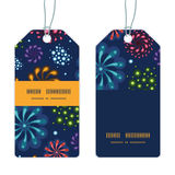 Vector holiday fireworks vertical stripe frame Stock Photography