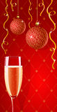 Vector holiday glamour wallpaper with champagne stock photos