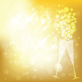 Vector holiday golden background Royalty Free Stock Photography