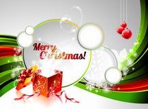 Vector Holiday illustration on a Christmas theme. Stock Image