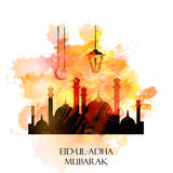 Vector holiday illustration Eid Al Adha. Feast of sacrifice Royalty Free Stock Images