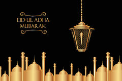 Vector holiday illustration Eid Al Adha Royalty Free Stock Image