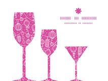 Vector holiday lanterns line art three wine Royalty Free Stock Images