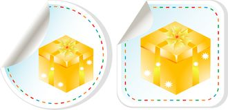 Vector holiday modern gift box sale design set Royalty Free Stock Photography