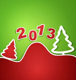 Vector holiday new year 2013 background. The vector holiday new year 2013 background Royalty Free Stock Images