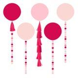 Vector holiday pink balls Royalty Free Stock Photos