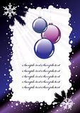 Vector. Holiday Postcard Royalty Free Stock Images
