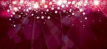 Vector holiday, red, sparkle background. Vector holiday, red, sparkle background with lights and stars royalty free illustration