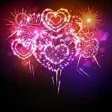 Vector holiday valentine firework Stock Photos