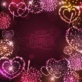 Vector holiday valentine firework Royalty Free Stock Photos