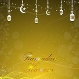 Vector holy month of muslim ramadan kareem background Royalty Free Stock Photography