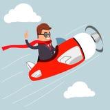 Vector Hombre de negocios en el aeroplano Foto de archivo libre de regalías