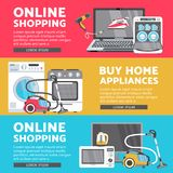 Vector home appliance sale poster, banner set Royalty Free Stock Image