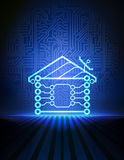Vector home automation background Royalty Free Stock Photography