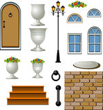 Vector Home Building Components Royalty Free Stock Image