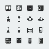 Vector home furniture mini icons set #2 Royalty Free Stock Image