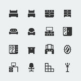 Vector home furniture mini icons set #1 Royalty Free Stock Photography