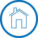 Vector home icon Royalty Free Stock Images