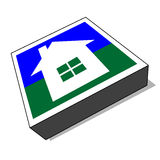 Vector home icon / button (vector) Stock Photo