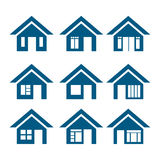 Vector home icons Royalty Free Stock Photos