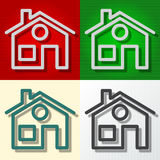 Vector home icons Royalty Free Stock Photography