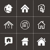Vector home icons set Stock Photo