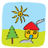 Vector home illustration Royalty Free Stock Images