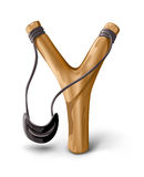 Vector home-made wooden slingshot weapon Royalty Free Stock Photos