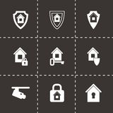 Vector home security icon set Stock Image