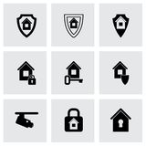 Vector home security icon set Royalty Free Stock Images