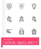 Vector home security icon set Royalty Free Stock Photography