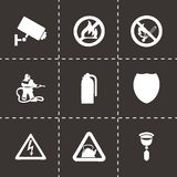Vector home security icons set Royalty Free Stock Photo