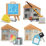 Vector Homebuilding Concept Royalty Free Stock Photography