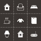 Vector homey icon set Royalty Free Stock Images
