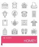 Vector Homey icon set Royalty Free Stock Photos