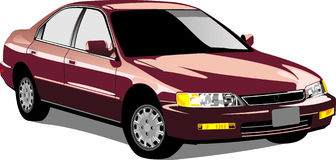 Vector Honda Accord stock illustratie