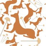 Vector hondsilhouet Egypte stock illustratie