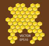 Vector honey combs Royalty Free Stock Photos